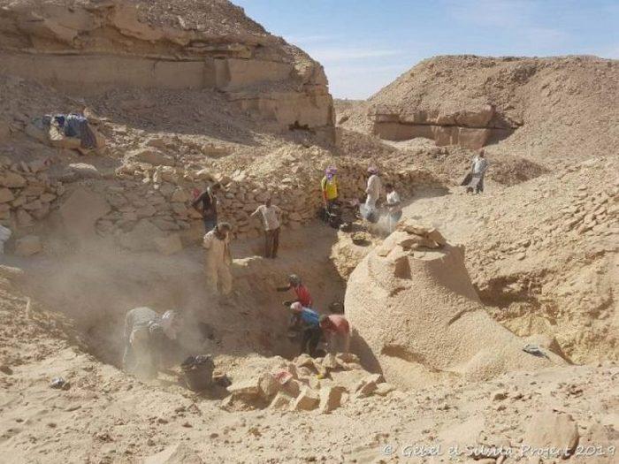 Фотография с места раскопок.
